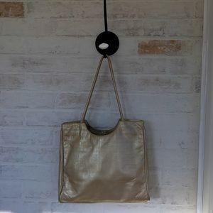 Due Fratelli Vintage Leather Shoulder Gold Bag